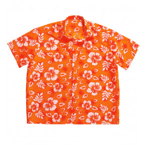 Orange Hawaii Skjorte