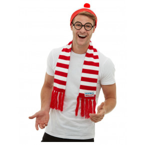 Find Holger Kostume Kit - Licenseret ''Where's Wally'' Sæt