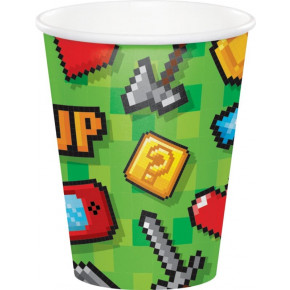 Gaming alá Minecraft Kopper 266ml, 8 stk.