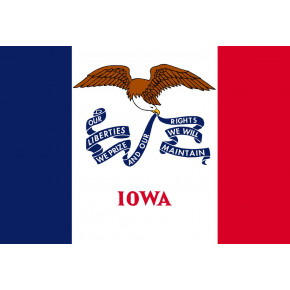 Iowa flagga
