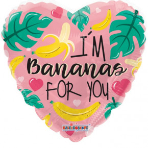 """I'm Bananas For You"" - Valentines Folie Ballon"