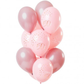 "Lush Blush Ballon Buket - ""Happy 50th Birthday"""