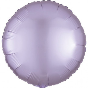 Satin Luxe Folieballon Rund, Matte Finish Lavendel