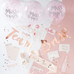 Polterabend in a Box, Rosa Bride Tribe Party Kit