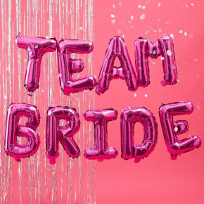 "Pink ""Team Bride"" Folie Ballon Kit"