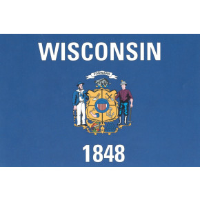 Wisconsin flagga